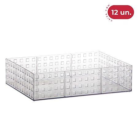 Organizador Empilhável Quadratta Grande - 12 Unidades