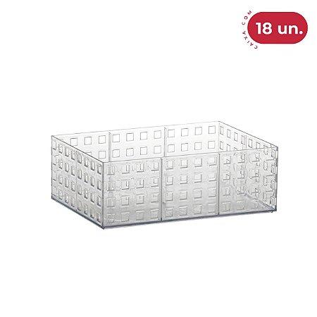 Organizador Empilhável Quadratta Médio - 18 Unidades