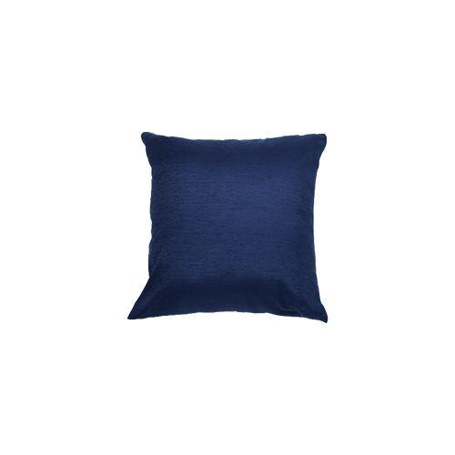 Capa Para Almofada Em Tecido Veludo Liso Azul