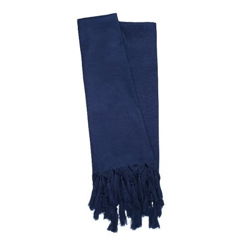 Manta Para Sofá Em Tecido Veludo Liso Azul