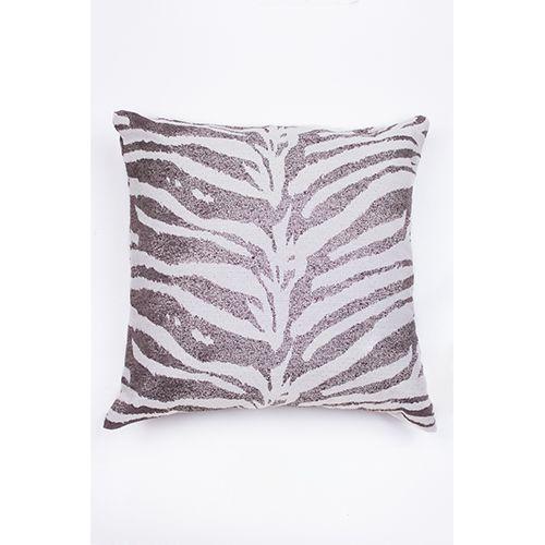Capa De Almofada Para Sofá Zebra Cinza