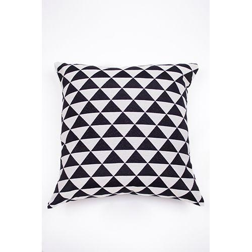Capa De Almofada Para Sofá Geometria Ornamental Preto e Branco