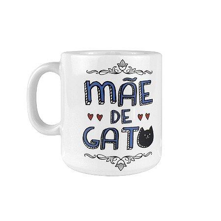 Caneca Branca Mae De Gato