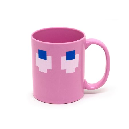 Caneca Fantasma Pac-Man 400Ml - Rosa