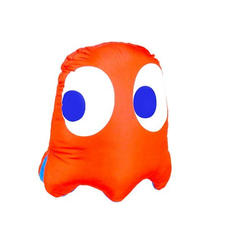 Almofada Formato Fantasma Vice Versa Pac-Man Blinky