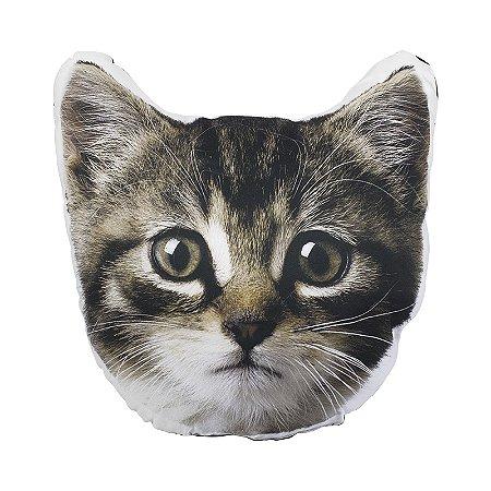 Almofada Formato Gato Cinza