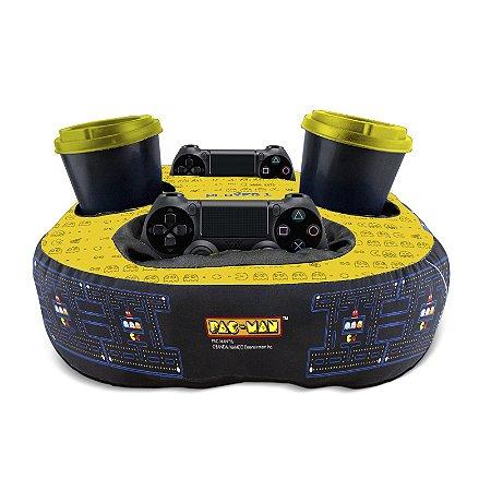Almofada Porta Controle E Copo Pac-Man