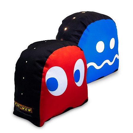 Peso De Porta Fantasma Vermelho Com Led Pac-Man