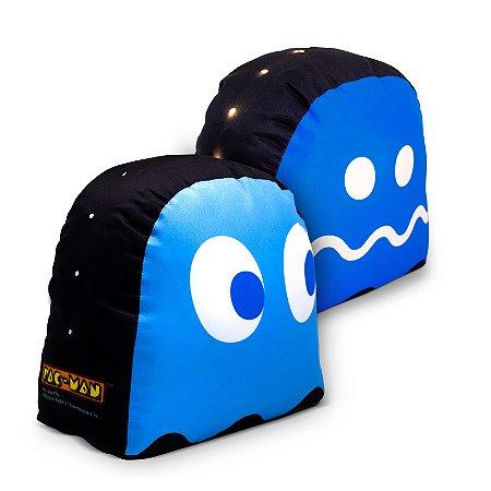 Peso De Porta Fantasma Azul Com Led Pac-Man