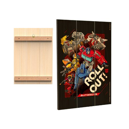 Placa Decorativa  Transformers - Roll Out