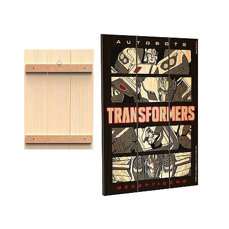 Placa Decorativa  Transformers - Quadrinhos