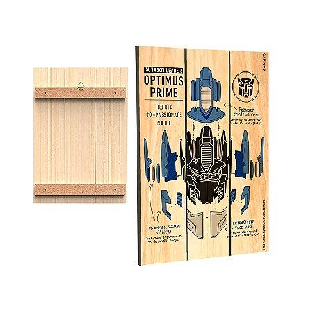 Placa Decorativa  Transformers - Mod.05 - Optimus Prime