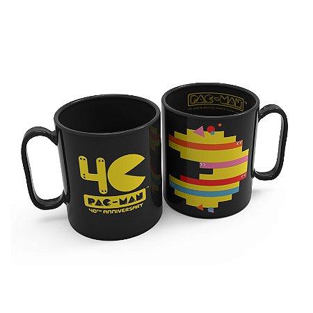 Caneca Preta 270 Ml Pac Man 40 Anos - Pac Man
