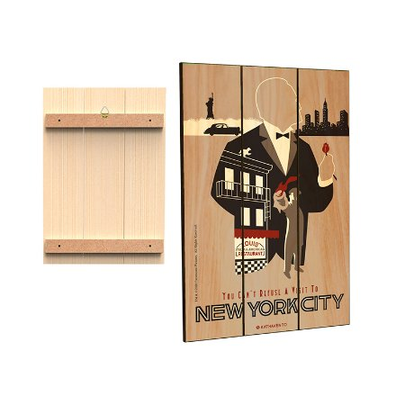 Placa Decorativa Poderoso Chefao - Mod.02 - New York
