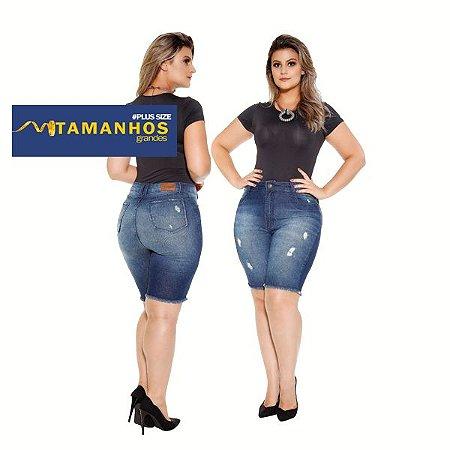 Bermuda Jeans Plus Curve Size com Elastano Ref: 5101