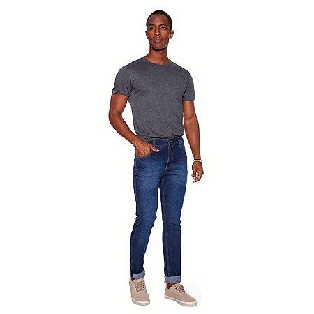 Calça Masculina Jeans Skinny com Lavagem Ref: 10790
