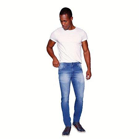 Calça Masculina Jeans Azul Clara Skinny Ref: 10784
