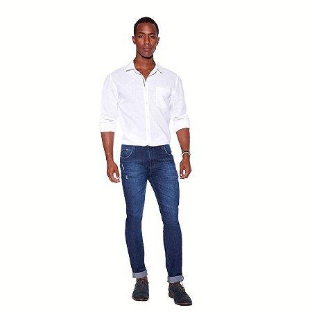 Calça Masculina Jeans Azul com Dobra Ref: 10783