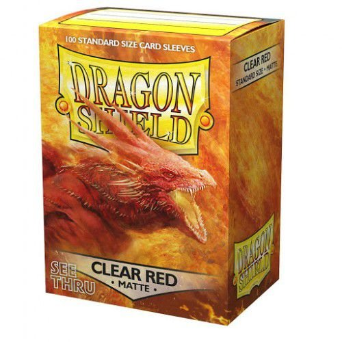 Dragon Shield Matte - Clear Red