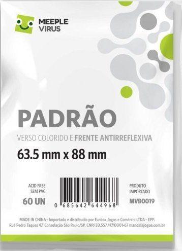 Sleeves Padrão Branco 63,5 X 88