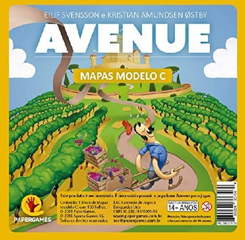 Avenue Bloco De Mapas Modelo C