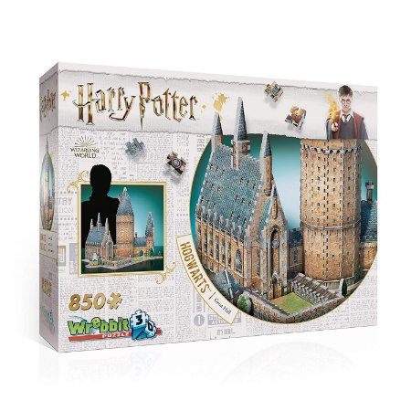 Harry Potter: Hogwarts - Salão Principal Quebra Cabeça em 3D