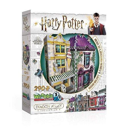 Harry Potter: Madame Malkin E Sorveteria Do Florean Fortescue Quebra cabeça em 3D