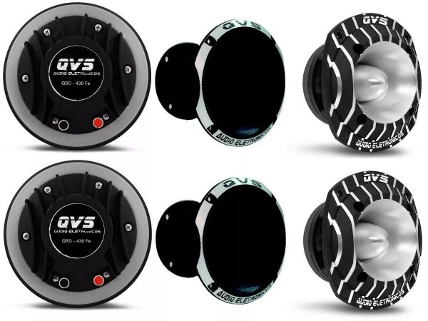 2 Driver Qvs 430fe + 2 Tweeter Qst520trio + 2 Qvs-1450 Qvs