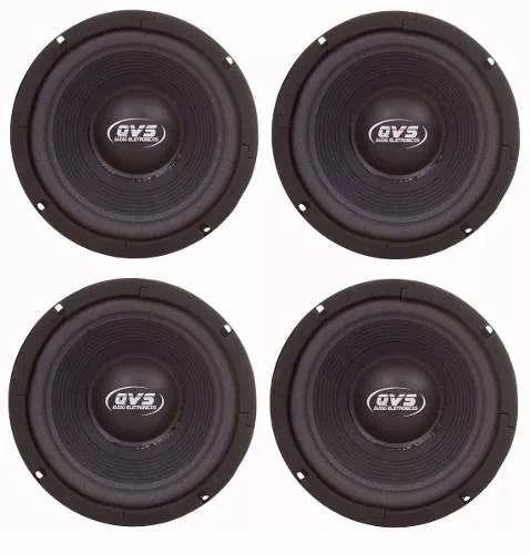 4x Alto falante 6 pol. 150W 6MGS150 | 4 Ohms - Qvs Áudio