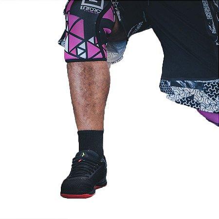 Joelheira para Crossfit Rosa 7mm Par Tam P - Enforce Fitness