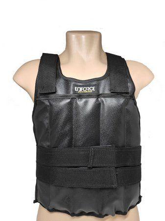 Colete Ajustável com Peso 15 Kg Preto Tamanho Único - Enforce Fitness