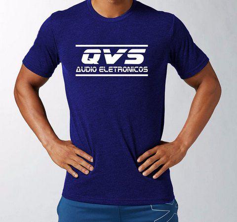 Camiseta Azul Qvs Tamanho P