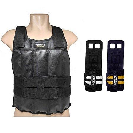 Kit Colete de Carga 5kg + Munhequeira com Grip - Enforce Fitness