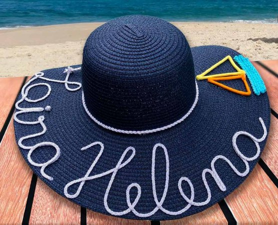 Chapéu de Praia Personalizado com Nome