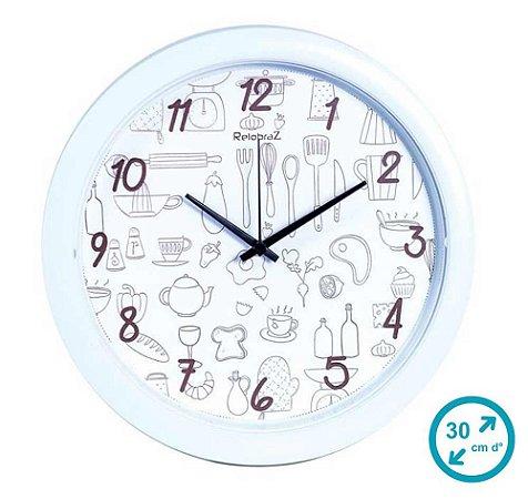 Relógio de Parede para Cozinha 30 cm