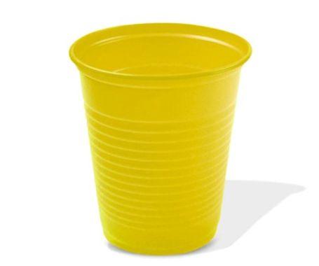 Copo Plástico Descartável Amarelo 200 ml - Bello Copo