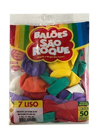 Balão São Roque com Cores Mistas - 50 unidades