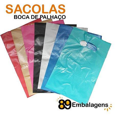 Sacola Colorida com Alça Vazada 30 x 40 x 0,12 - Diversas Cores