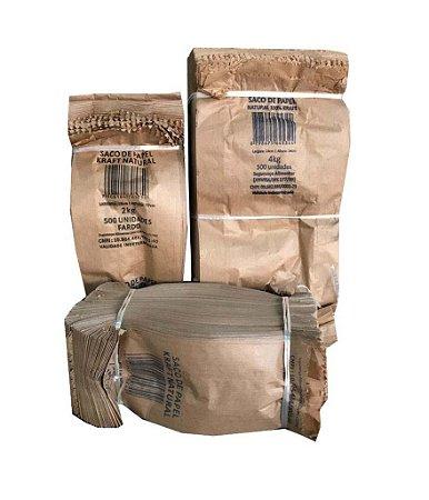 Saco Papel Kraft para Pães e Doces - 500 Unidades