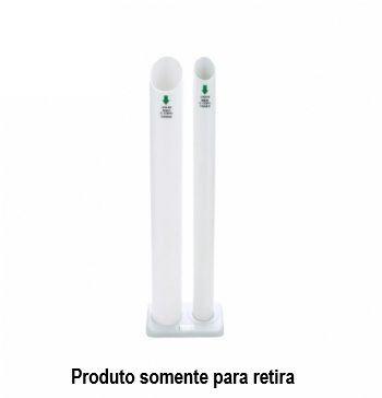 Coletor de Copos Descartáveis 2 Tubos (água/café) - Trilha