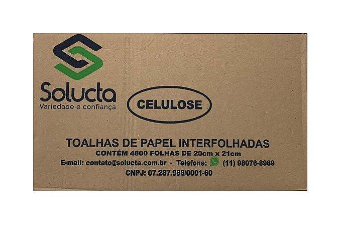 Interfolha Branco 100% Celulose 20x21 Solucta - 4800 unidades