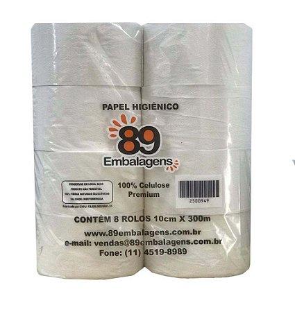Papel Higiênico Rolão 100% Celulose 8x300 - 89 Embalagens