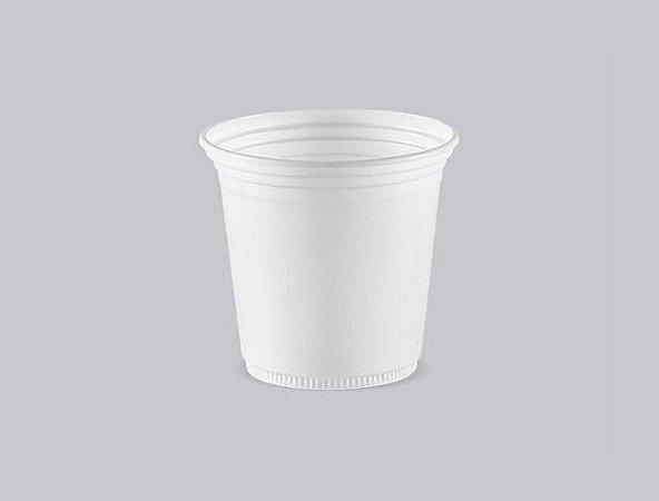 Copo Plástico Descartável Branco Liso 110 ml - Copaza