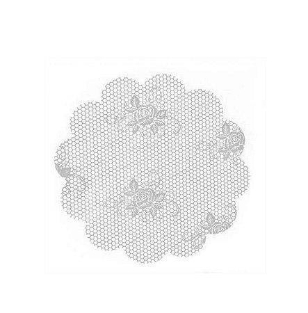 Fundo Rendado Plástico Branco - Medidas Variadas - 100 unidades