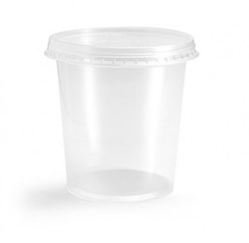 Pote Plástico PP 1500 ml Redondo Kit com Tampa para Freezer e Microondas - Orleplast