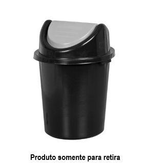 Cesto Lixo Preto com Tampa Basculante - 97 Litros