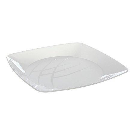 Prato Acrílico Cristal Quadrado 21 cm - ElitePlastic