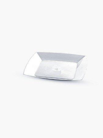 Prato Acrílico Cristal Quadrado 15 cm - ElitePlastic