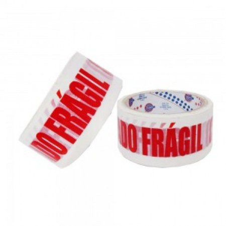 Fita Adesiva Cuidado Frágil para Empacotamento Manual - 48 X 50