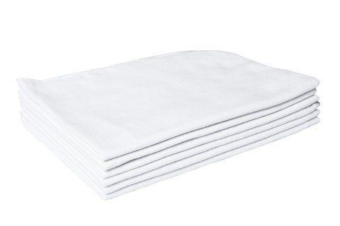 Flanela Branca para Limpeza - 28 X 38